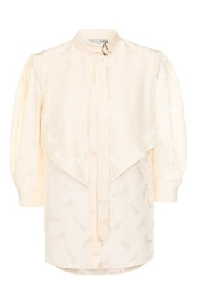 Женская блузка из смеси шелка и вискозы STELLA MCCARTNEY белого цвета, арт. 599776/SNA57 | Фото 1