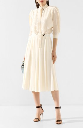 Женская блузка из смеси шелка и вискозы STELLA MCCARTNEY белого цвета, арт. 599776/SNA57 | Фото 2