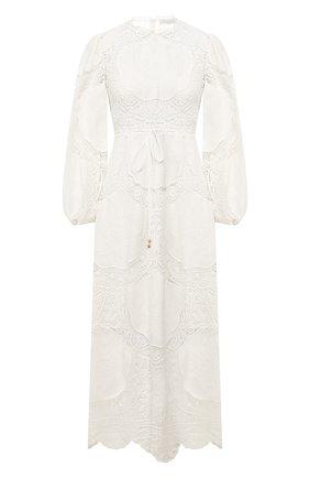 Платье из смеси льна и хлопка | Фото №1
