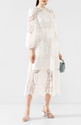 Платье из смеси льна и хлопка | Фото №2