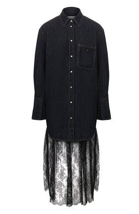 Женское джинсовое платье VALENTINO синего цвета, арт. TB3DA01J55F | Фото 1