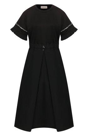 Женское платье MONCLER черного цвета, арт. F1-093-8I706-00-C8031 | Фото 1