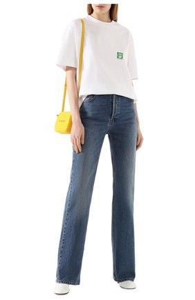 Женская хлопковая футболка BALENCIAGA белого цвета, арт. 594599/THV63 | Фото 2