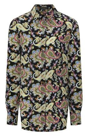Женская шелковая рубашка ESCADA черного цвета, арт. 5032943 | Фото 1
