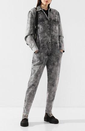 Женский джинсовый комбинезон ISABEL MARANT ETOILE серого цвета, арт. CB0262-20P022E/IDESIA   Фото 2
