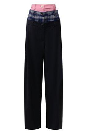 Женские шерстяные брюки NATASHA ZINKO синего цвета, арт. R20303-09/05/02 | Фото 1