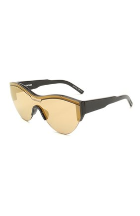 Мужские солнцезащитные очки BALENCIAGA золотого цвета, арт. 570484/T0001 | Фото 1