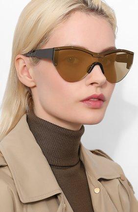 Мужские солнцезащитные очки BALENCIAGA золотого цвета, арт. 570484/T0001 | Фото 2