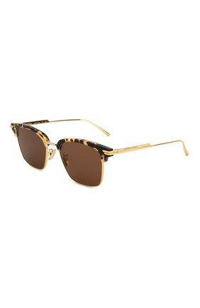 Мужские солнцезащитные очки BOTTEGA VENETA коричневого цвета, арт. BV1007SK | Фото 1