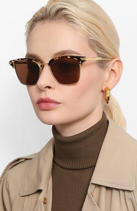 Мужские солнцезащитные очки BOTTEGA VENETA коричневого цвета, арт. BV1007SK | Фото 2