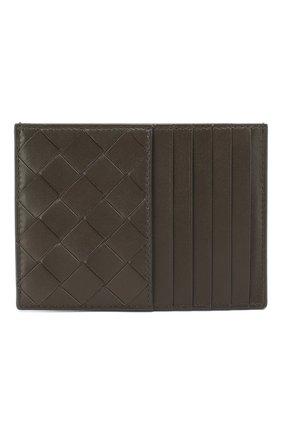 Женский кожаный футляр для кредитных карт BOTTEGA VENETA светло-серого цвета, арт. 608088/VCPP3 | Фото 1