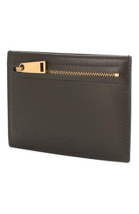 Женский кожаный футляр для кредитных карт BOTTEGA VENETA светло-серого цвета, арт. 608088/VCPP3 | Фото 2