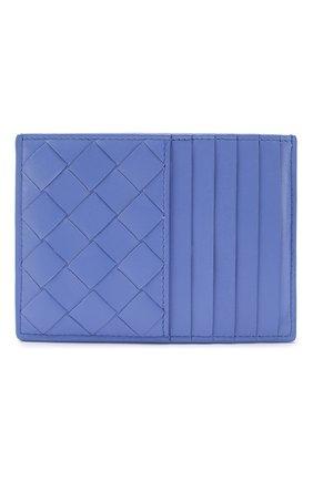 Женский кожаный футляр для кредитных карт BOTTEGA VENETA синего цвета, арт. 608088/VCPP3 | Фото 1