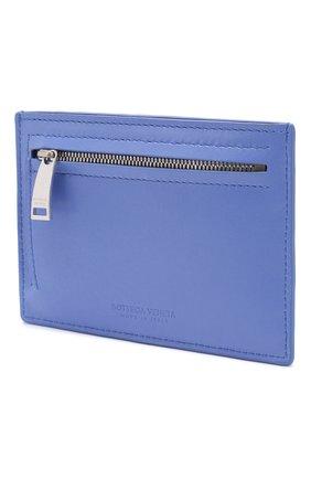Женский кожаный футляр для кредитных карт BOTTEGA VENETA синего цвета, арт. 608088/VCPP3 | Фото 2
