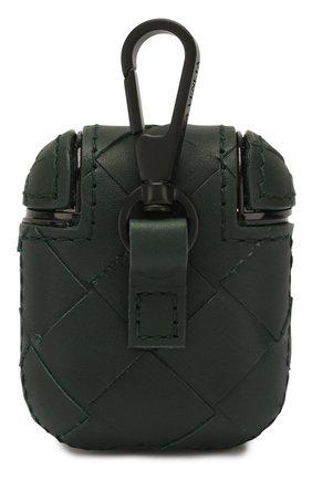 Мужской кожаный чехол для airpods BOTTEGA VENETA зеленого цвета, арт. 610263/VCPQ0 | Фото 2