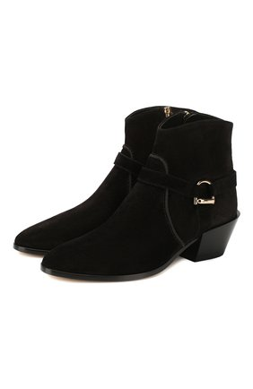 Женские замшевые ботинки TOD'S черного цвета, арт. XXW94A0CV10BYE | Фото 1
