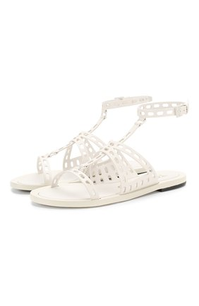 Женские кожаные сандалии TOM FORD белого цвета, арт. W2543L-LCL070   Фото 1