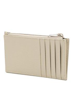 Женский кожаный футляр для кредитных карт SAINT LAURENT белого цвета, арт. 607915/B0W02 | Фото 2