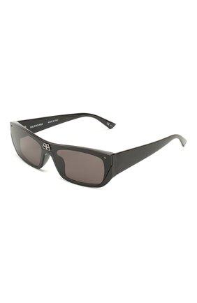 Мужские солнцезащитные очки BALENCIAGA черного цвета, арт. 609370/T0003 | Фото 1