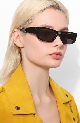 Мужские солнцезащитные очки BALENCIAGA черного цвета, арт. 609370/T0003 | Фото 2