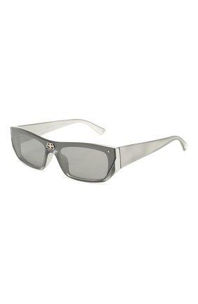 Мужские солнцезащитные очки BALENCIAGA серого цвета, арт. 609370/T0003 | Фото 1