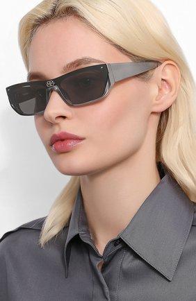 Мужские солнцезащитные очки BALENCIAGA серого цвета, арт. 609370/T0003 | Фото 2