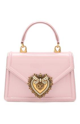 Женская сумка devotion small DOLCE & GABBANA светло-розового цвета, арт. BB6711/A1037 | Фото 1