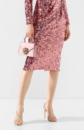 Женская сумка devotion small DOLCE & GABBANA светло-розового цвета, арт. BB6711/A1037 | Фото 2