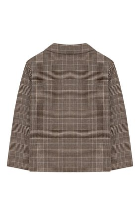 Детский пиджак из шерсти и льна GUCCI бежевого цвета, арт. 591406/XWAGI | Фото 2