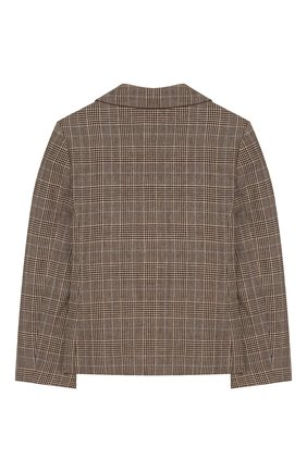 Детский пиджак из шерсти и льна GUCCI бежевого цвета, арт. 599473/XWAGI | Фото 2