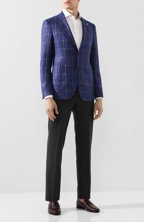 Мужские кожаные пенни-лоферы BARRETT бордового цвета, арт. 201U007.4/CERV0 ASP0RTABILE   Фото 2