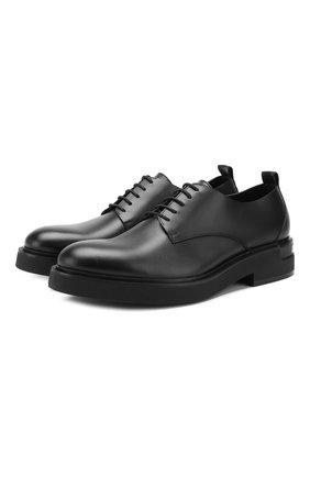 Мужской кожаные дерби DSQUARED2 черного цвета, арт. LUM0044 01500001 | Фото 1