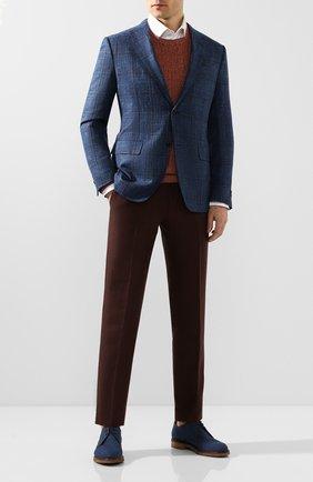 Мужской текстильные дерби MORESCHI темно-синего цвета, арт. 42960/EM | Фото 2
