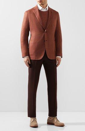 Мужской кожаные дерби MORESCHI бежевого цвета, арт. 43339/162 | Фото 2