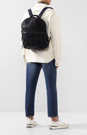 Мужской кожаный рюкзак GIORGIO BRATO темно-синего цвета, арт. BS20S2401V | Фото 2