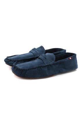 Мужского замшевые домашние туфли BALLY темно-синего цвета, арт. YV0R-U/26 | Фото 1