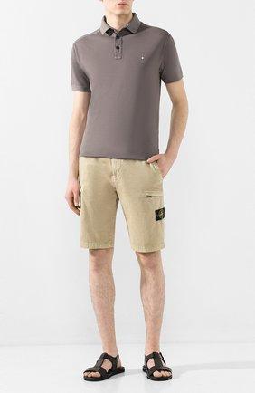 Мужские кожаные сандалии DOUCAL'S черного цвета, арт. DU2641ITACUF002NN00 | Фото 2
