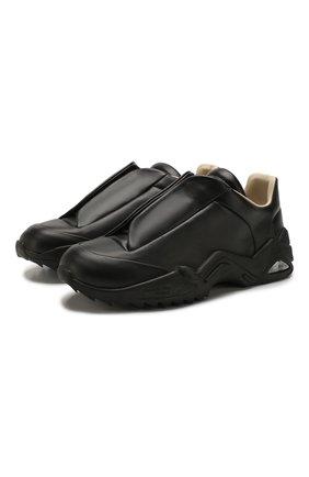 Мужские кожаные кроссовки MAISON MARGIELA черного цвета, арт. S37WS0493/P2589 | Фото 1 (Подошва: Массивная; Материал внутренний: Натуральная кожа)