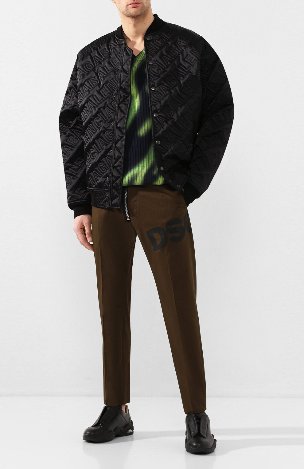 Мужские кожаные кроссовки MAISON MARGIELA черного цвета, арт. S37WS0493/P2589 | Фото 2 (Материал внутренний: Натуральная кожа; Подошва: Массивная)