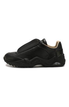 Мужские кожаные кроссовки MAISON MARGIELA черного цвета, арт. S37WS0493/P2589 | Фото 3 (Материал внутренний: Натуральная кожа; Подошва: Массивная)