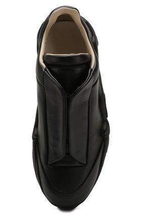 Мужские кожаные кроссовки MAISON MARGIELA черного цвета, арт. S37WS0493/P2589 | Фото 5 (Материал внутренний: Натуральная кожа; Подошва: Массивная)