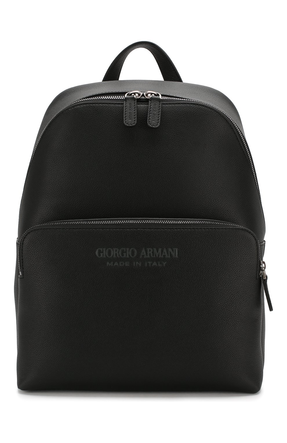 Мужской кожаный рюкзак GIORGIO ARMANI черного цвета, арт. Y20122/YTD0J | Фото 1