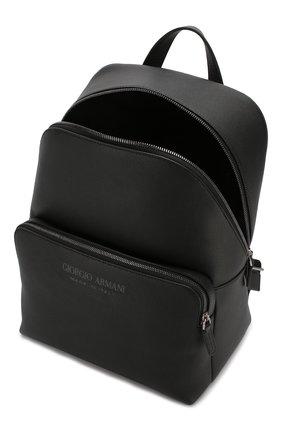 Мужской кожаный рюкзак GIORGIO ARMANI черного цвета, арт. Y20122/YTD0J | Фото 4