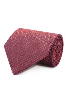 Мужской шелковый галстук LUIGI BORRELLI красного цвета, арт. LC80-B/TT9200 | Фото 1
