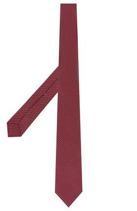 Мужской шелковый галстук LUIGI BORRELLI красного цвета, арт. LC80-B/TT9200 | Фото 2