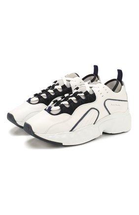 Мужские кожаные кроссовки rockaway ACNE STUDIOS белого цвета, арт. BD0002/M | Фото 1