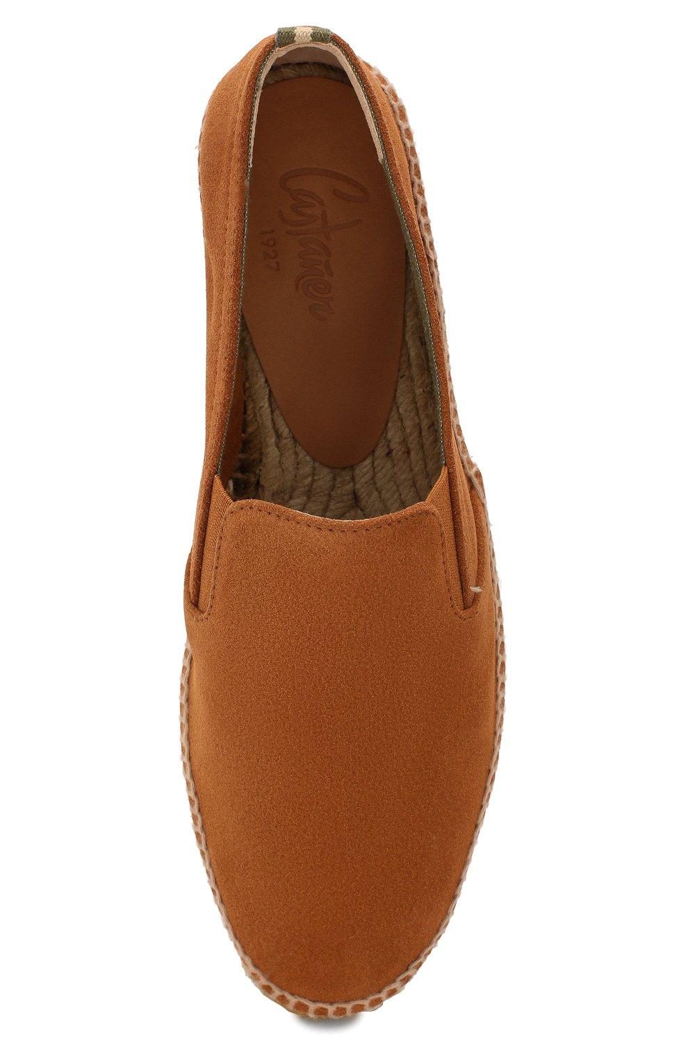 Мужские замшевые эспадрильи CASTANER коричневого цвета, арт. 021836   Фото 5