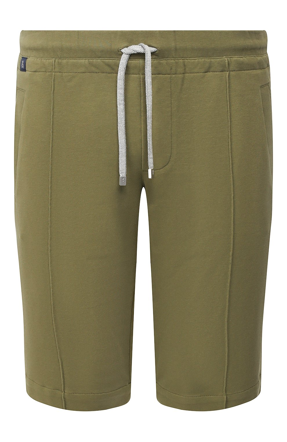 Мужские хлопковые шорты CAPOBIANCO зеленого цвета, арт. 8M737.FE01.   Фото 1