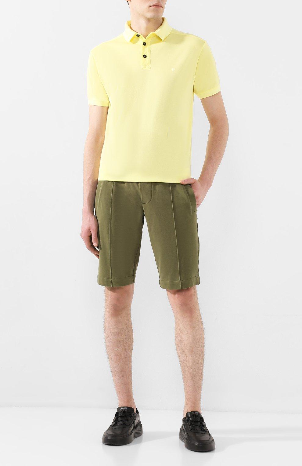 Мужские хлопковые шорты CAPOBIANCO зеленого цвета, арт. 8M737.FE01.   Фото 2