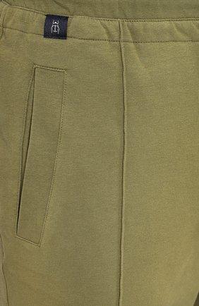 Мужские хлопковые шорты CAPOBIANCO зеленого цвета, арт. 8M737.FE01.   Фото 5